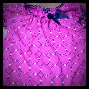 Girls Pink/Blk/silver Tunic